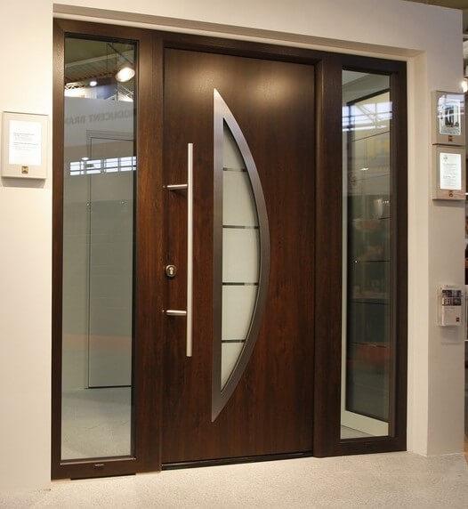 Brixia Usa Casa Hormann Tps900 Dark Oak Cu Luminatoare Laterale Usi Antiefractie